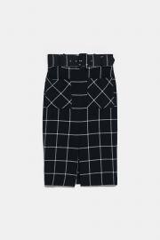 Plaid Pencil Skirt by Zara at Zara