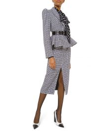 Plaid Peplum Jacket at Neiman Marcus