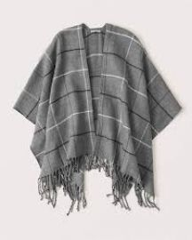 Plaid Poncho by Abercrombie at Abercrombie