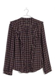 Plaid Ruffle Front Blouse at Nordstrom Rack