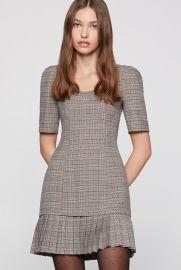 Plaid Ruffle Mini Dress at BCBGeneration