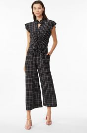 Plaid Silk Jumpsuit at Rebecca Taylor