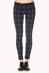 Plaid Skinny Jeans at Forever 21