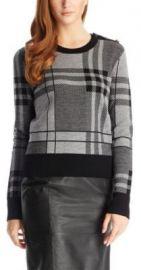Plaid Sweater at Hugo Boss