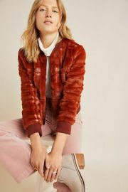 Plaid Teddy Bomber Jacket by Anthropologie at Anthropologie
