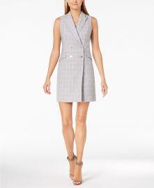 Plaid Trench Dress  Calvin Klein at Macys