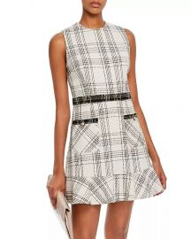 Plaid Tweed Dress by Aqua at Bloomingdales