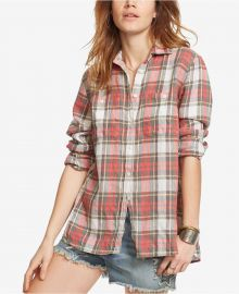 Plaid Utility Shirt in Red Multi by Ralph Lauren Denim & Supply at Macys