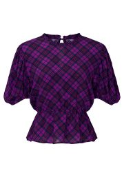 Plaid Victoria Top by Rahi at Rent The Runway