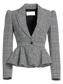 Plaid Virgin Wool Peplum Jacket at Saks Off Fifth