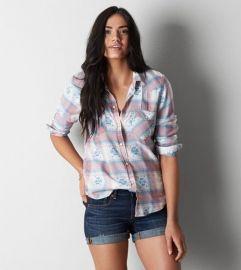 Plaid Western Shirt at American Eagle