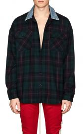 Plaid Wool Flannel Oversized Shirt at Barneys