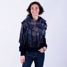 Plaid Wrap Blanket Scarf at Rock Flower Paper