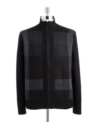 Plaid Zip Sweater by Calvin Klein at Lord & Taylor