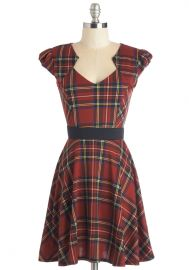 Plaid and Subtract Dress in Tartan at ModCloth