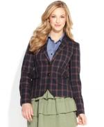 Plaid blazer by QMack at Macys