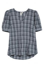 Plaid blouse at Nordstrom