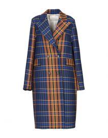 Plaid coat at Yoox