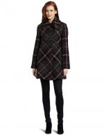 Plaid coat by Larry Levine at Amazon