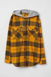 Plaid hooded shirt at H&M