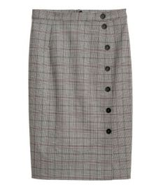 Plaid skirt at H&M