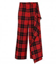 Plaid wool pants at Mytheresa