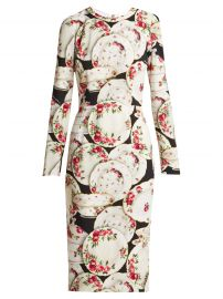Plate-Print Stretch-Crepe Midi Dress by Dolce  Gabbana at Matches
