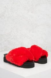 Platform Furry Sandals by Forever 21 at Forever 21