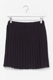 Pleat Don\'t Go High Waisted Mini Skirt at Nasty Gal