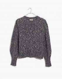 Pleat-Shoulder Pullover Sweater at Madewell