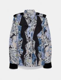 Pleated Blouse With Kaffe Fassett Print at Coach