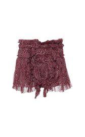 Pleated Chiffon Silk Melissa Skirt In Rust by Isabel Marant at Moda Operandi
