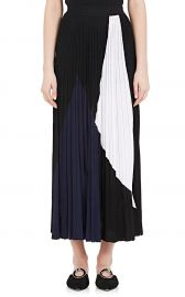 Pleated Colorblocked Midi-Skirt Proenza Schouler at Barneys