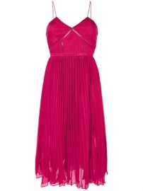 Pleated Crepe Midi Dress by Self Portrait at Farfetch