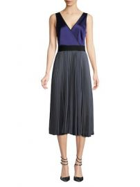 Pleated Faux Wrap Dress by Diane von Furstenberg at Gilt at Gilt
