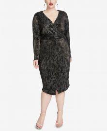 Pleated Faux-Wrap Dress by Rachel Rachel Roy at Macys