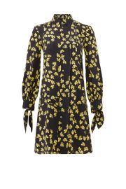 Pleated Floral Shirtdress by Derek Lam at Rent The Runway