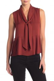 Pleated Front Tie Tank Top at Nordstrom Rack