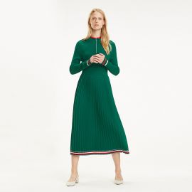 Pleated Midi Dress by Tommy Hilfiger at Tommy Hilfiger