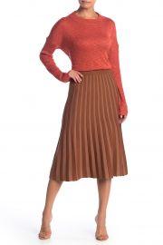 Pleated Midi Skirt at Nordstrom Rack