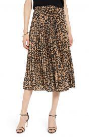 Pleated Midi Skirt at Nordsstrom