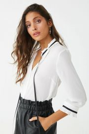 Pleated Neck-Tie Top at Forever 21