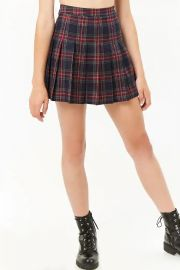 Pleated Plaid Mini Skirt at Forever 21