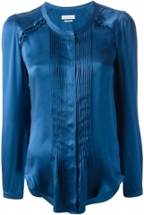 Pleated Satin Blouse by Isabel Marant at Yoox