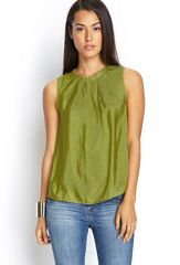 Pleated Satin Top at Forever 21