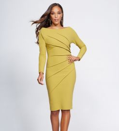 Pleated Sheath Dress - Gabrielle Union Collection at NY&C