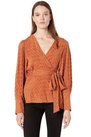 Pleated Shoulder Wrap Top at Amazon