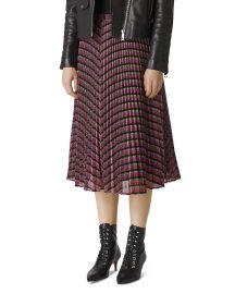 Pleated Sparkle-Stripe Skirt at Bloomingdales