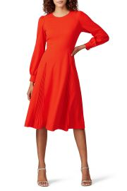 Pleated Stretch-Crepe Dress by Tory Bruch at Rent The Runway