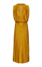 Pleated Stretch-Knit Midi Dress by Cushnie at Moda Operandi